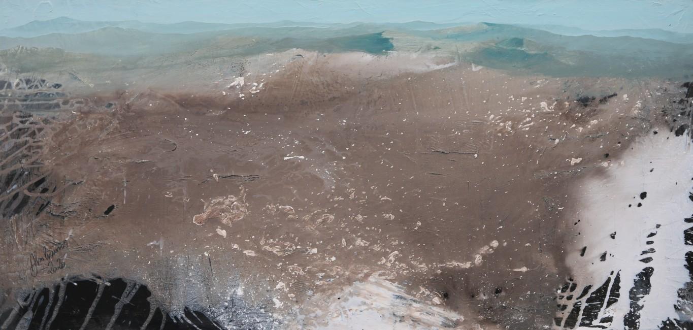 Almbauer, Gerhard_Blaue Berge_2020_Acryl auf Leinwand_170 x 80 cm