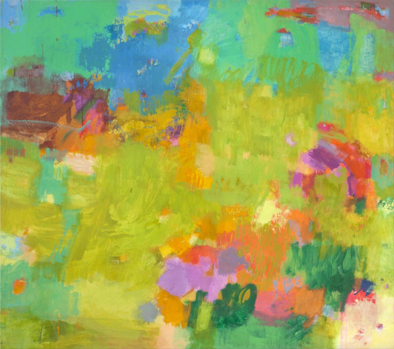 Amerell, Petra_ohne Titel_2019_Pigmente und Binder auf Leinwand_160 x 180 cm