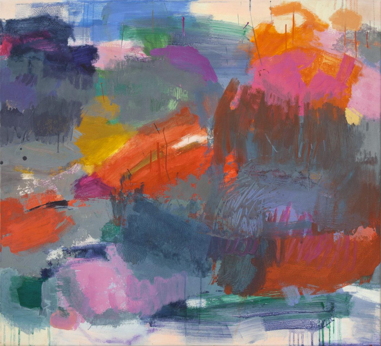 Amerell, Petra_ohne Titel_2019_Pigmnete und Binder auf Leinwand_100 x 110 cm
